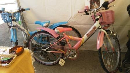 寄付していただいた自転車。ありがとうございました!
