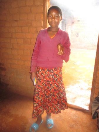 7年生になったFelisiana。この家庭訪問で会ったのが最後になりました。
