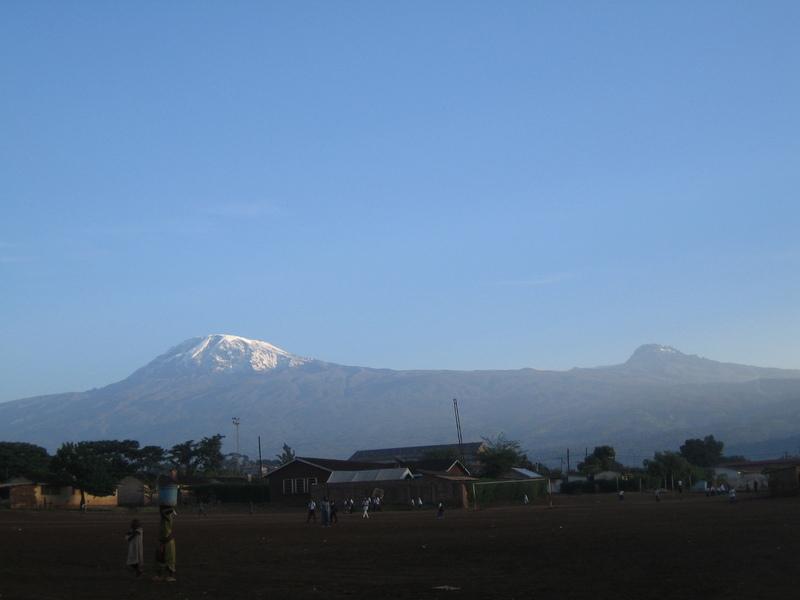 2008年1月に撮影したキリマンジャロ山