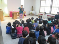 美幌藤幼稚園で、『タンザニアのおはなし』をさせていただきました